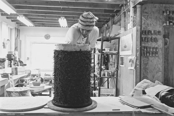 Ryan Livingstone Contemporary Canadian Toronto Artist in the studio New Brunswick Contemporary Ceramic Art