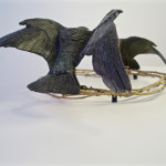 Ryan Livingstone Contemporary Canadian Artist Crows Nest Thorns Toronto New Brunswick Bronze Crow Sculptures Crows Love