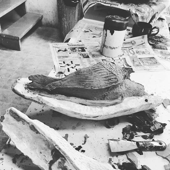 Ryan Livingstone Contemporary Canadian Artist Ceramic Art Crows New Brunswick Sculpture Slip Casting Toronto Artist Studio