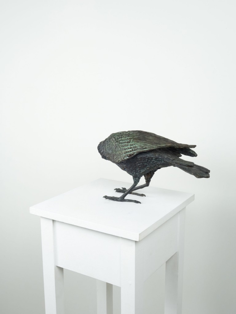 Ryan Livingstone Canadian Artist Sculptor Contemporary Art Crow Bronze Sculpture From The Landscape Toronto New Brunswick Art Inspired by Our Relationship with Nature