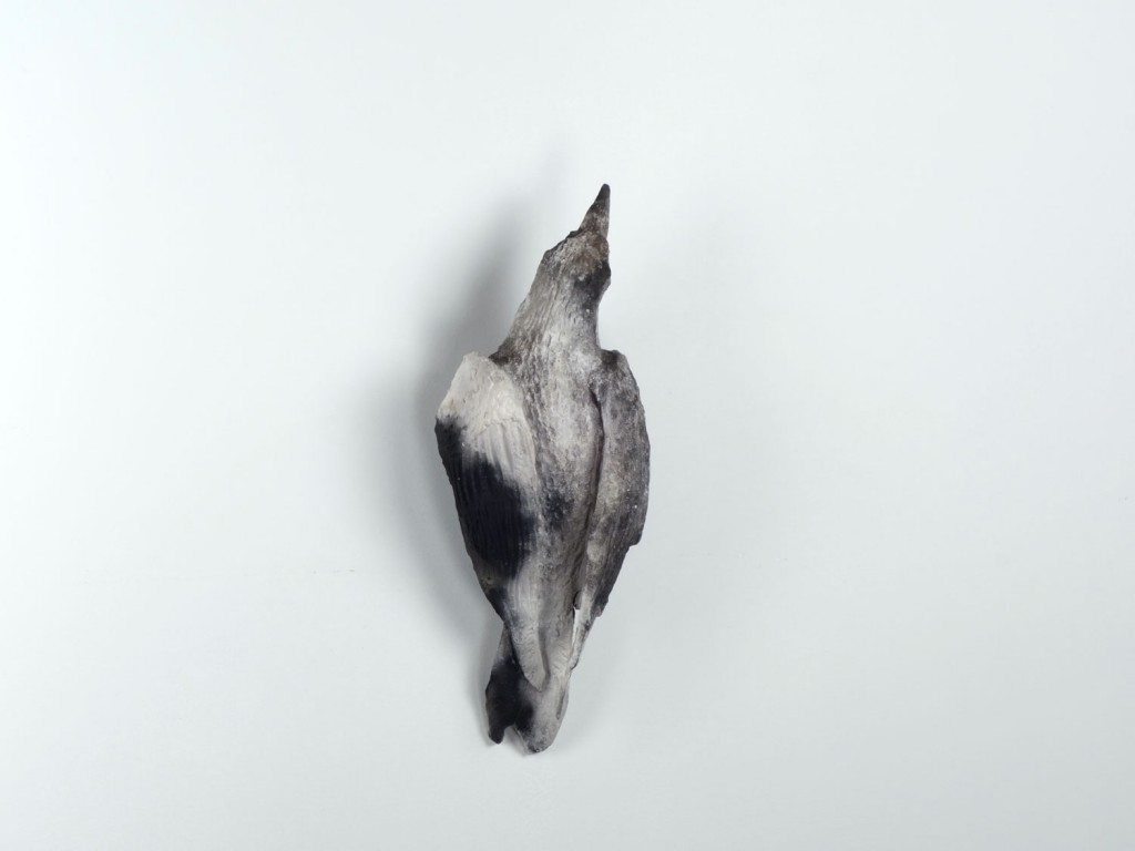 Ryan Livingstone Canadian Artist Sculptor Contemporary Art Crow Sculpture Porcelain Pit Fired Clay Smoke Ashes Crow From The Landscape Ceramics Clay Ceramic Art Gas Kiln Burnt Contemporary Ceramic Sculpture Toronto New Brunswick Art Inspired by Our Relationship with Nature